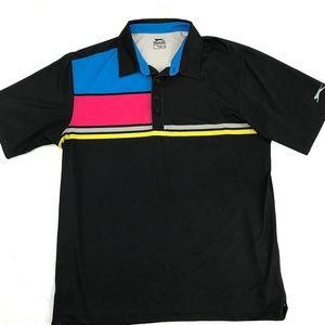 Slazenger Retro Colorblock Polo Shirt XL